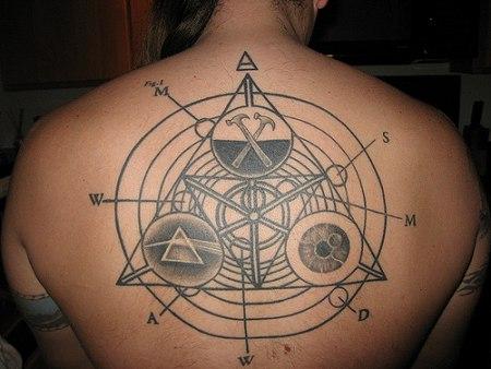 Charles Gray tattoo