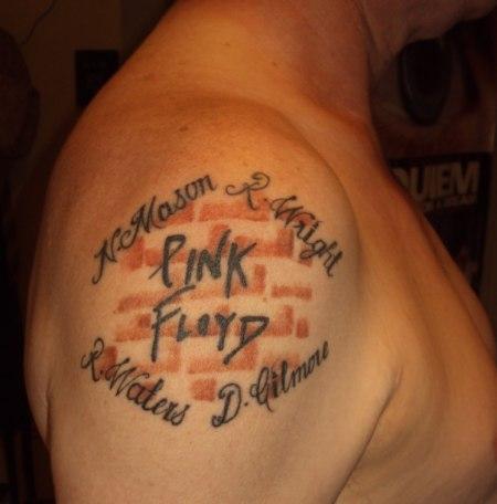 Noel's Pink Floyd tattoo