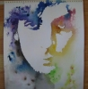 Syd Barrett - watercolour, by Eric Watson