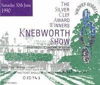 knebworth 1990 ticket