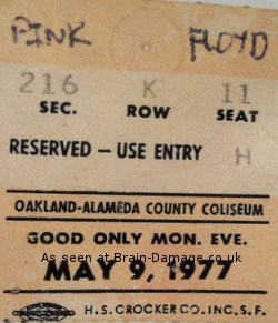 Oakland, May 9th 1977