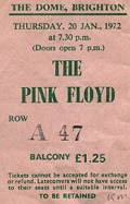 Pink Floyd - Brighton Dome, January 20th, 1972