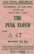 Pink Floyd - Brighton Dome, January 20th, 1972