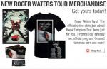 Roger Waters 2011 Wall tour merchandise