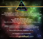 Why Pink Floyd launch party invite
