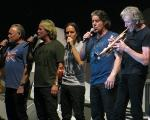 Venice and Robbie Wyckoff, with Roger Waters, Birmingham June 2011