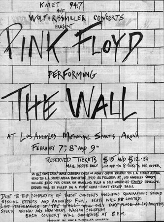Pink Floyd The Wall - LA Sports Arena, Feb 1980