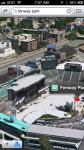 Fenway Park on Apple Map application