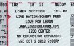 Love for Levon ticket