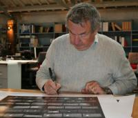 Nick Mason signing Carinthia West Animals print