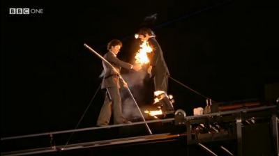 Nick Mason at London 2012 Olympics Closing Ceremony