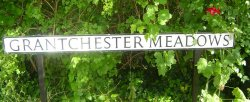 Grantchester Meadows roadsign, Cambridge