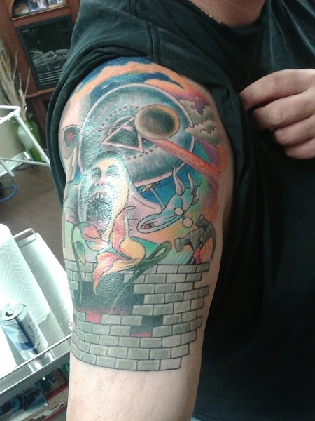 Jean-Claude's Pink Floyd tattoo