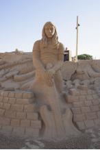 Pink Floyd sand sculpture at Fiesa 2013