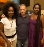 Guy Pratt with the McBroom sisters, New York