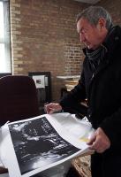 Nick Mason signing for Rockarchive © Jill Furmanovsky