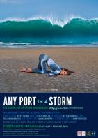 Any Port In A Storm - exhibition poster