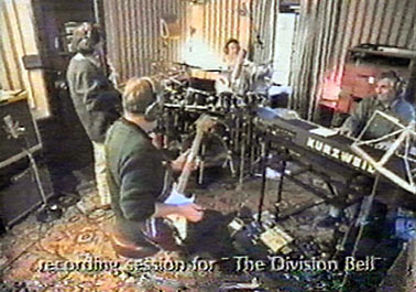 Pink Floyd recording The Division Bell