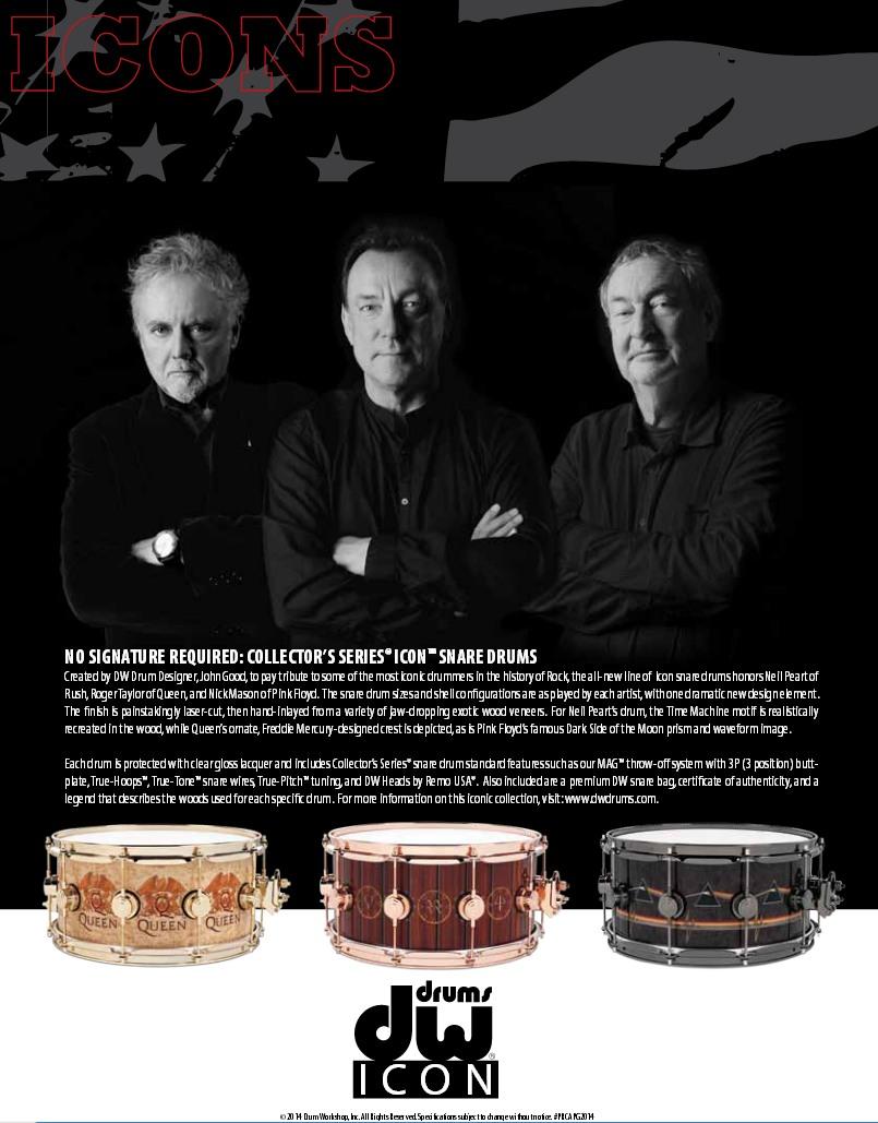 Компания DW Drums посвятила коллекционный малый барабан Нику Мэйсону