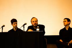 James Guthrie, with Gilad Cohen and David Molk, at 2014 Princeton Pink Floyd conference