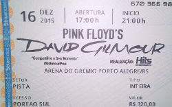 David Gilmour ticket - Porto Alegre 2015