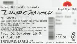 David Gilmour ticket - Royal Albert Hall London