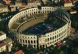 Arena Pula - aerial shot