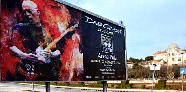 David Gilmour - Pula 2015 billboard