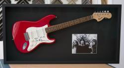 David Gilmour-signed Fender guitar