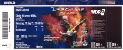 David Gilmour 2015 tour - Oberhausen concert ticket