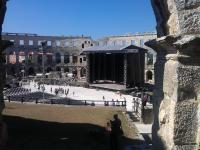 David Gilmour's stage at Pula Arena