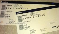 David Gilmour 2015 Pula Croatia ticket