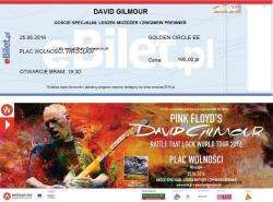 David Gilmour - Wroclaw, Poland 2016 ticket