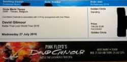 David Gilmour - Tienen, Belgium ticket
