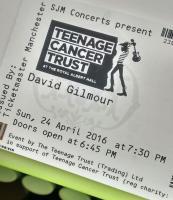 David Gilmour - Teenage Cancer Trust, Royal Albert Hall, London April 24 2016 ticket