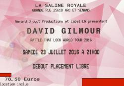 David Gilmour - La Saline Royale ticket