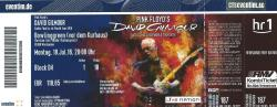 David Gilmour - Wiesbaden ticket 2016