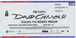 David Gilmour - Wroclaw Ticket 2016