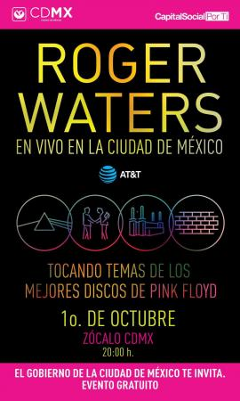 Roger Waters free concert, Zocalo Square, Mexico City