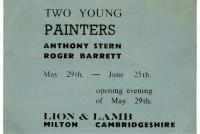 Roger (Syd) Barrett and Anthony Stern art exhibition ticket