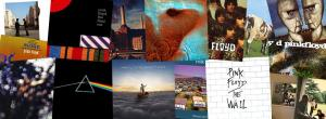 Collage of Pink Floyd album covers