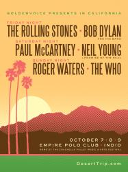 Desert Trip concert, October 7-9 2016, California