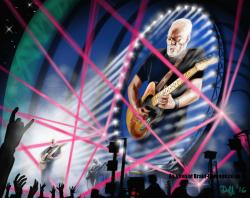 Duff Moses: Artwork inspired by David Gilmour's Rattle That Lock tour, 2016