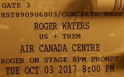 Roger Waters - Air Canada Centre, Toronto, 2017 ticket