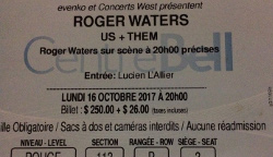 Roger Waters Montreal Canada 2017 ticket