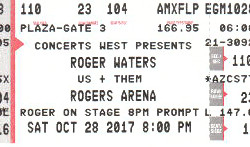 Roger Waters - Vancouver 2017 ticket