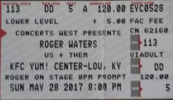 Roger Waters - Louisville 2017 ticket