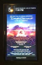 David Gilmour Live at Pompeii - cinema marquee