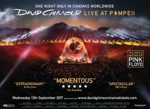 David Gilmour - Live at Pompeii film release poster