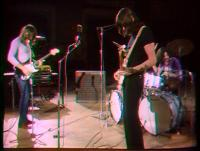 David Gilmour, Roger Waters and Nick Mason during KQED recordings, April 1970